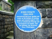 Enid Stacy blue plaque