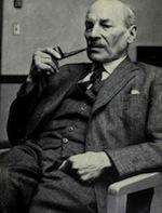 DC Attlee sitting pipe•