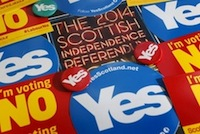 Scottish independence badges
