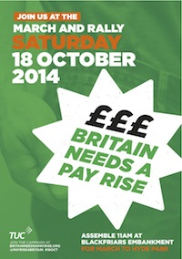 TUC Pay Rise flier