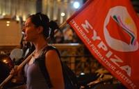Syriza flag landscape